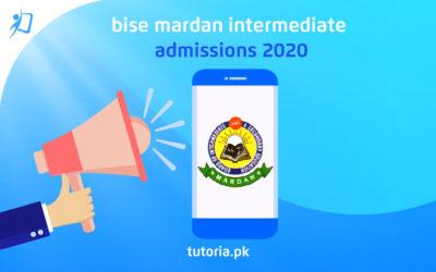 BISE Mardan Intermediate Admissions 2020