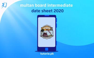 Multan Board Inter Date Sheet 2020